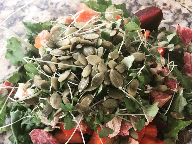 Spring Mix & Kale Layered Salad